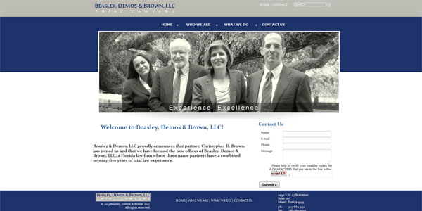www.beasleydemos.com: Beasley, Demos & Brown, Trial Lawyers
